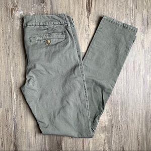American Eagle 10 Long Olive Skinny Chino Pants
